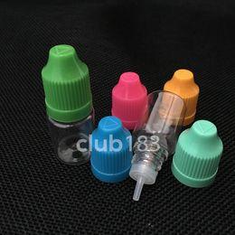Wholesale Botellas baratos PET ml Dropper con tapa a prueba de niños y punta fina larga botellas PET Dropper plástica ml E botella líquida para E Cig