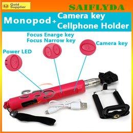 Promotion contrôleur bluetooth pour monopode Chaper z07-5 Extensible Handheld Autoportrait Monopied selfie bâton Photographie Bluetooth Obturateur Caméra Télécommande Monopied