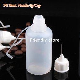 1500pcs lot 30ml Empty E cig Liquid Bottles 1OZ Plastic Needle Dropper Bottle With Needle Tip And Silicon Cover