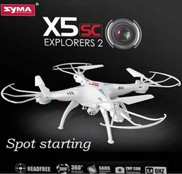 Wholesale SYMA X5SC G CH Axis Gyro RC Quadrocopter RTF Drone with HD MP Camera Headless Mode and D Eversion