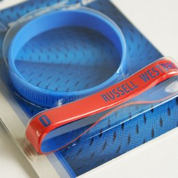 Wholesale Two packing Oklahoma Russell Westbrook Bracelet Genuine Silicone wristbands Basketball Bracelet fans souvenir gift