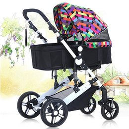 Wholesale Bassinet stroller system Far Away From Automobile Exhaust High Landscape Baby Trolley Safety Infant Car good quality