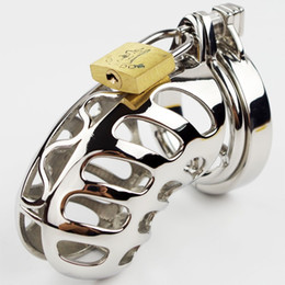 2015 NEW ARRIVE Stainless steel Male Chastity Device metal Penis Locking SM Bondage devices Adult sex products