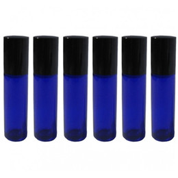 Wholesale 50 ML Glass Roll On Bottles Cobalt Blue Glass roll on bottle essential oil use cosmetic packing