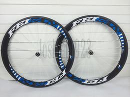 2015 original FEIFAN white-blue carbon wheels Tubular Clincher carbon road bike wheels 50mm with Novatec 291 pull straight for carbon bike