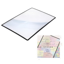 Wholesale Hot sale x120mm Convinient A5 Flat PVC Magnifier Sheet X3 Book Page Magnification Magnifying Reading Glass Lens order lt no track