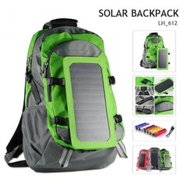 Wholesale 6 W Waterproof Sun Power Solar Panels Outdoor Travel Solar Backpack Charger Back Pack Bag L With mAh Power Bank