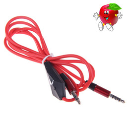 Wholesale New Arrival MM Jack Cord Male To Male Stereo Audio Cable with Mic for PC for iPod Laptop DVD MP3 Headphone