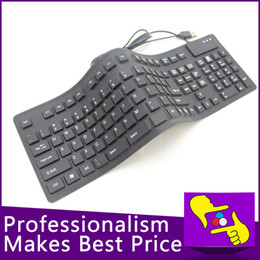 Argentina Wholesale-2015 NUEVA 108 llaves plegables impermeable flexible suave de silicona mini teclado USB con cable para tablet PC wired usb silicone keyboard wholesale on sale Suministro