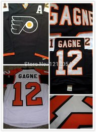 Wholesale 2016 new NHL JERSEY Gagne Hockey Jerseys Philadelphia Flyers Simon Gagne Third Jersey Black White Road A Patch Size M XX