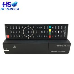 Wholesale Best Offer for Original ZGEMMA H S Twin Tuner DVB S2 DVB S2 Dual Core Satellite Receiver support TF memory Card