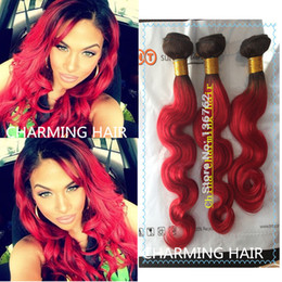 Dark red brazilian hair samples dark red brazilian hair samples 8a cheap fashinal 1b red dark roots red hair 100 brazilian virgin body wave human pmusecretfo Image collections