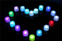 Color Changing LED Tea Candle Tealight for Christmas Home Décor Flameless Flickering Battery Operated Electric Candle 12pcs lot BY0000