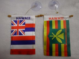 Wholesale Mini car hanging HAWAII STATE AND HAWAII RASTA flag banner inch x inch cm x cm