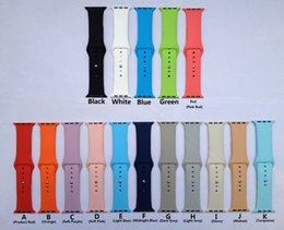 Wholesale 16 Colors For Apple Watch Band Product Red Purple Pink Orange Navy Midnight Blue Walnut Turquoise Vintage Rose Lavender Silicone Sport Band