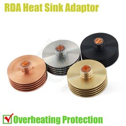 Wholesale Top Heat Sink Adaptor Thread Bottom attached mm RDA RBA Deck Anti Overheating Protection Link Copper Contact Atomizer Peek Insulator