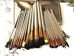 Conjunto de maquillaje cepillo de bajo precio en Línea-El precio bajo / el nuevo marrón NUDE # 3 marrón 24Pcs / set de la alta calidad Cepillos profesionales del maquillaje con la bolsa de cuero