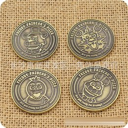 Wholesale 2016 new Five Nights at Freddy s coins Zinc Alloy FNAF Commemorative coins styles C560