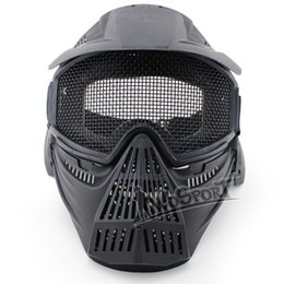 Argentina El nuevo venir de la máscara de Airsoft Tactical Paintball Guardia Caza Cara Proteger completa malla máscara material ABS Gafas protect paintball on sale Suministro