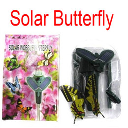FreeDHL Solar Power Flying Butterfly kids toys Garden Yard Decoration women gifts solar butteryfly Garden Yard exotic toys combo gift D711L