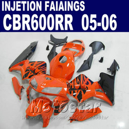 Injection Molding orange fit parts for HONDA CBR 600 RR fairing 2005 2006 cbr600rr 03 04 cbr 600rr fairing kit wUCS