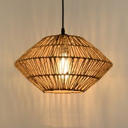 lights Pendant Lamps Indoor Lighting Retro hemp rope chandelier E27 High-quality light American country style lighting