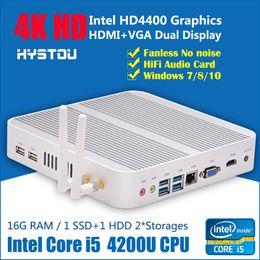 Wholesale Best Intel Core i5 u DDR3 Laptop Memory GB RAM Rugged Mini PC Case Fanless Gaming Computer Windows HTPC Box GB SSD HDMI