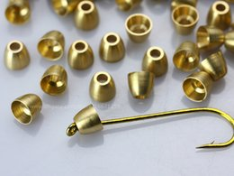 Wholesale Brass Cone head for tying Tube flies Fly tying materials C10101