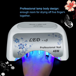 Wholesale Beautiful UV LED CCFL W nail lamp with LED display for Nail Ger Dryer curing polish Tool stock in US DE