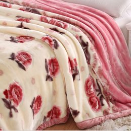 Raschel Blanket Super Soft Double Layers Velvet Thickened Lint Free Thick Blanket Milk Silky Soft 3 Size Many Patterns Bedding