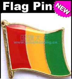 Free shipping Guinea Metal Flag Badge Flag Pin