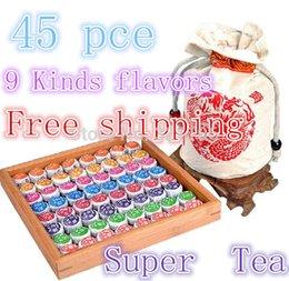 Wholesale 45 Kinds flavors Chinese puer tea pu er ripe pu erh tea bag gift the puerh tea pu er food lose weight products