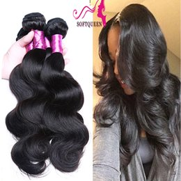 Soft Human Hair Products Brazilian Virgin Human Hair Weave 7a Body Wave Wavy Hair Double Weft Mongolian Hair For Weaving Best Selling