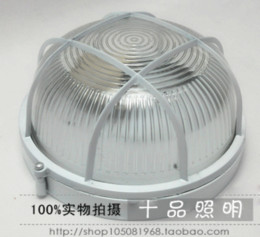 Wholesale Round with nets waterproof moisture proof shade bathroom ceiling sauna garden outdoor wall lamp E27 AC110v v D23 cm