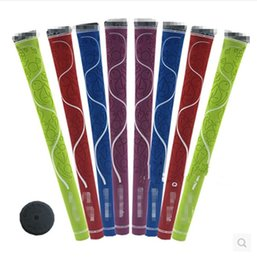 Wholesale 10 Rubber Grap Golf Grip Green Purple Red Blue for lady use high quality