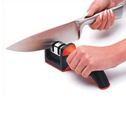 Wholesale Dos etapas diamante de cerámica Afilador de cuchillos Sharpening Stone cuchillo Sharpener Cuchillos de cocina Herramientas whetstone AY039 fx