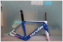 Wholesale Cervelo S3 bicycle frame road bike frameset blue color fashion carbon bike parts outdoor cycling frame