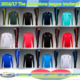 Wholesale traicksuits MC Tracksuits READ survetement black white jacket home away thailand quality trousers football training
