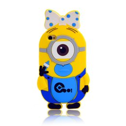 Wholesale Silicone Adorable eyes Rank and file soldiers Cell Phone Cases Minions For IPhone G plus Pirate daddy Mobile Phone Case