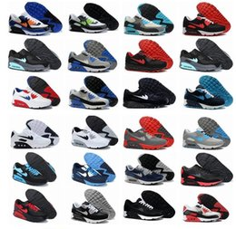 Wholesale New Men Running Shoes Max Sneakers High Quality Many Colors with Original Logo Black and white and blue