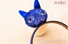 2016 new baby cartoon hair hoop candy color cheap fashion children hair band cute meow star people girl hair bands 30pcs HI
