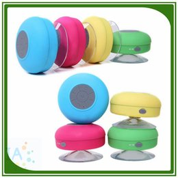 Wholesale Bluetooth Speaker Waterproof Wireless Shower Handsfree Mic Suction Chuck Speaker Car Speaker Portable mini MP3 Super Bass Call Rec
