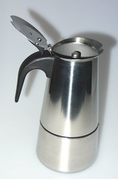 Wholesale High quality Stovetop coffee maker moka pot Espresso latte coffee pot stainless steel moka coffee machine