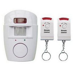 105dB DC 6V-12V infrared alarm ir alarm home security alarm system with remote controller ABS case