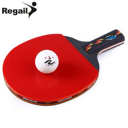 Wholesale Table Tennis Raquets REGAIL D003 Table Tennis Ping Pong Racket One Shake hand Grip Bat Paddle Ball x x inches BZ