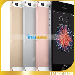 Wholesale 4 quot metal i5 SE Dual Core MTK6572 goophone iSE G Phone call with MB GB can show GB GB Sealed box colors in stock