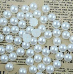 1000pcs Flatback Half Pearl Flat Back Acrylic Pearl DIY Crafts Scrapbooking Free 4 6 8 10mm