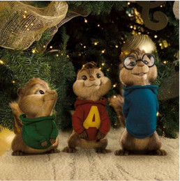 Wholesale New Arrival loverly Alvin and the Chipmunks simon theodore high quality baby plush soft toys CM and CM