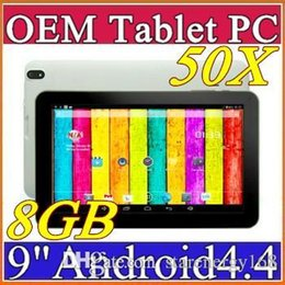 """Dhl de la tableta de 8 gb en venta-50X DHL 9 """"quad core tablet pc android 4.4 KitKat ATM7029B QuadCore 512 MB de RAM de 8 GB comprimidos ROM de doble cámara C-9PB"""
