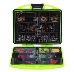 Crochets lests en Ligne-24 Compartments Pêche Tool Set Tackle Box complet Lure Loaded Bait Crochets Sinker